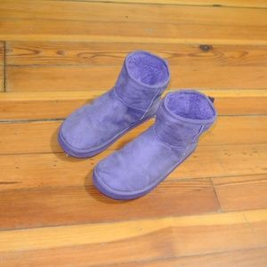 Shoes - Purple Winter Booties Size 8